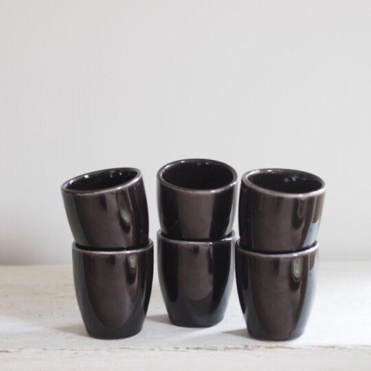 espressokopjes zwart set van 6