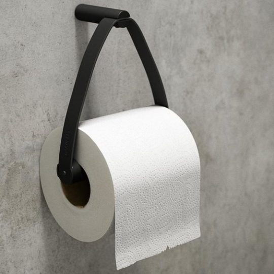 Zwart metalen toiletrolhouder
