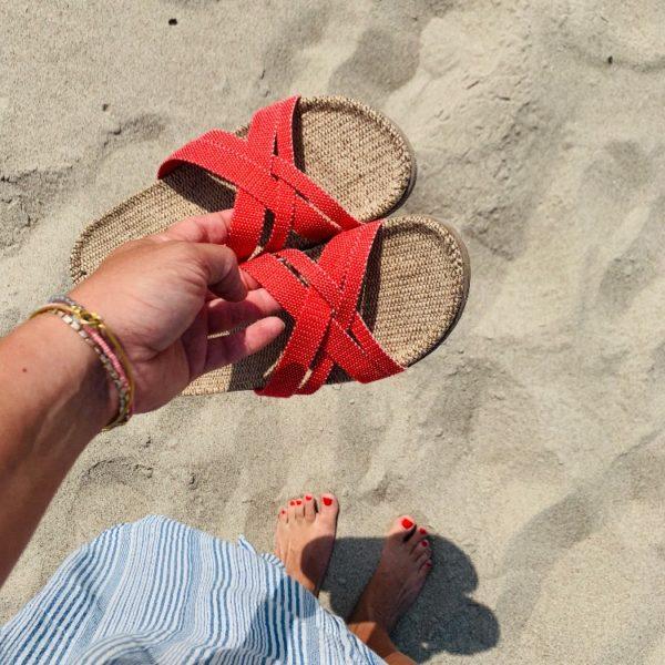 Rode dames slipper