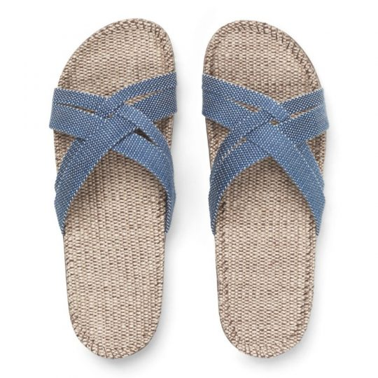 Blauwe dames slippers