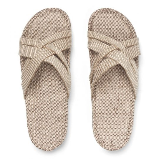 crème witte dames slippers