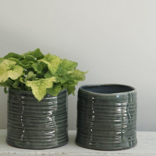Nori bloempot keramiek groen