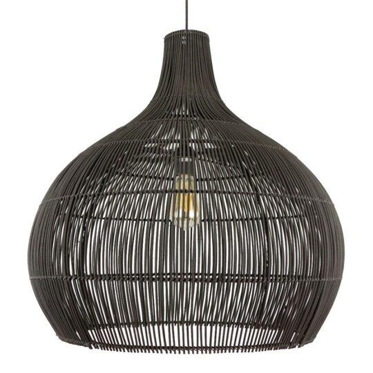 zwarte bamboe hanglamp max l