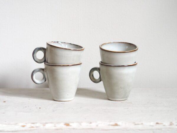 espressokopjes tabo grijs set van 4